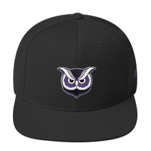 """Owl"" Wool Snapback Hat (Purple Variant) - Lift Me Up Apparel"
