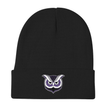 """Owl"" Knit Beanie (Purple Variant) - Lift Me Up - Hand Drawn Patches Pins and Apparel"