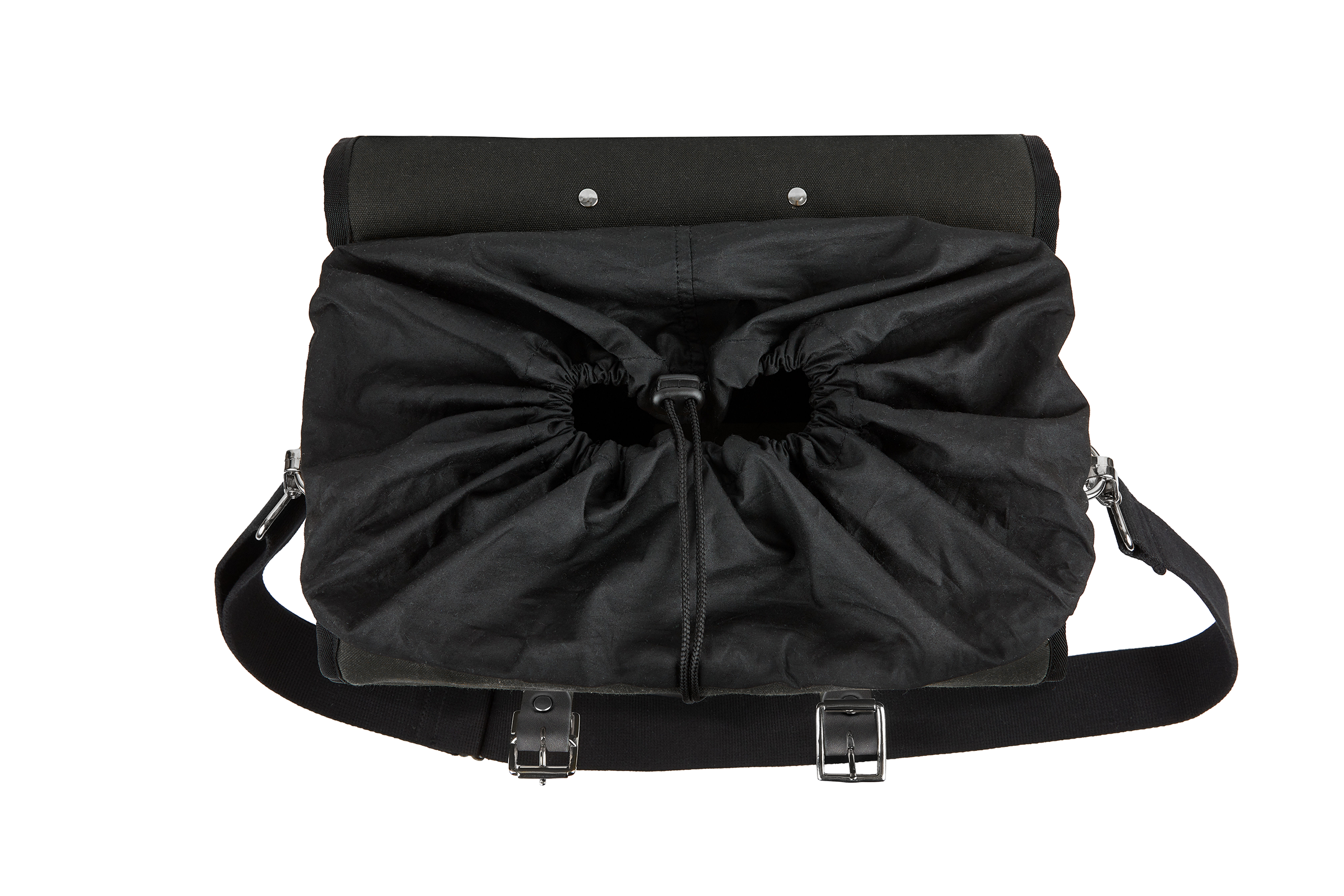 The Marvin, 12L,  Compact - Black Canvas, Black Leather