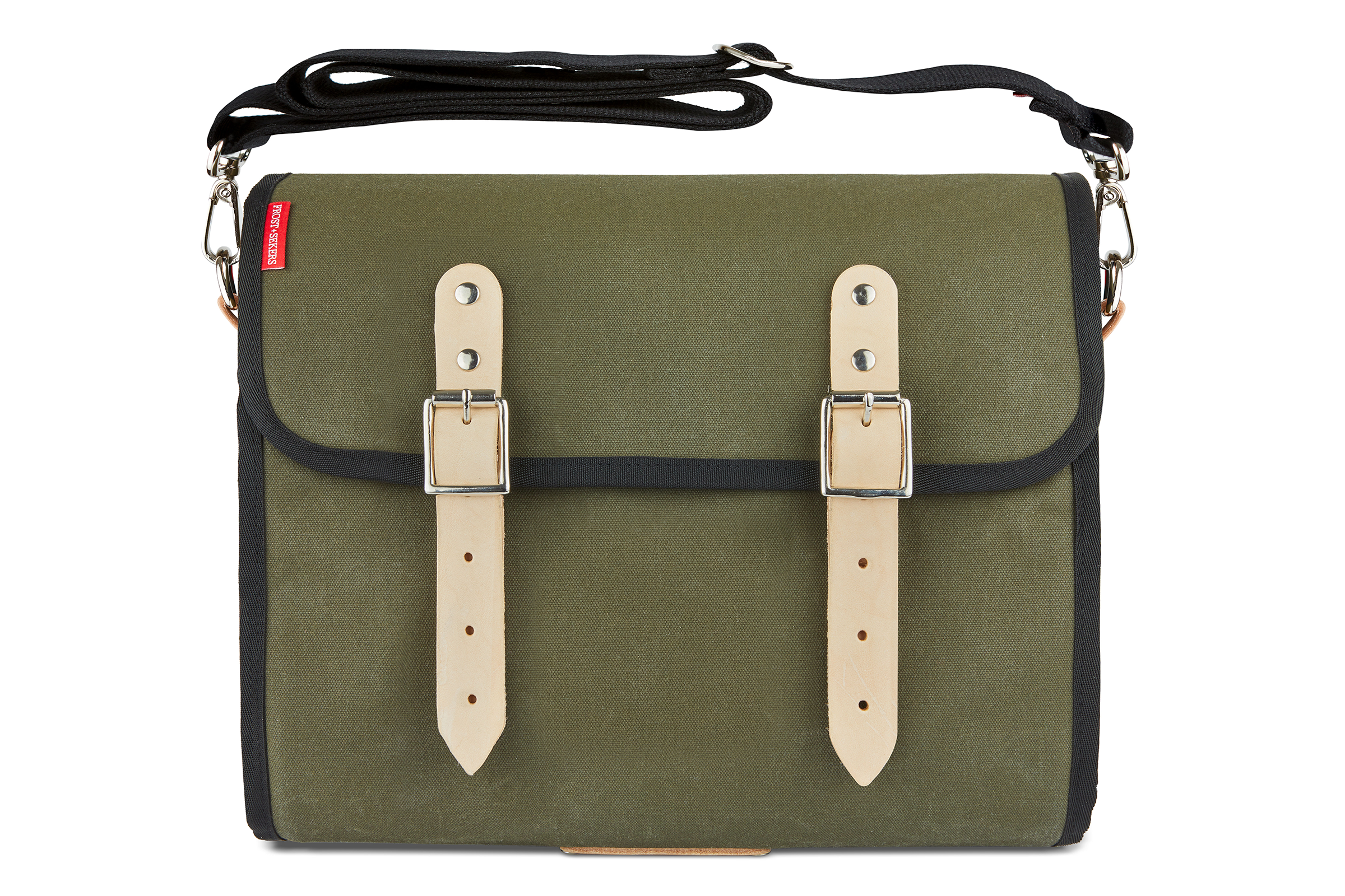 The Marvin, 12L, Compact - Dark Green Canvas, Tan Leather