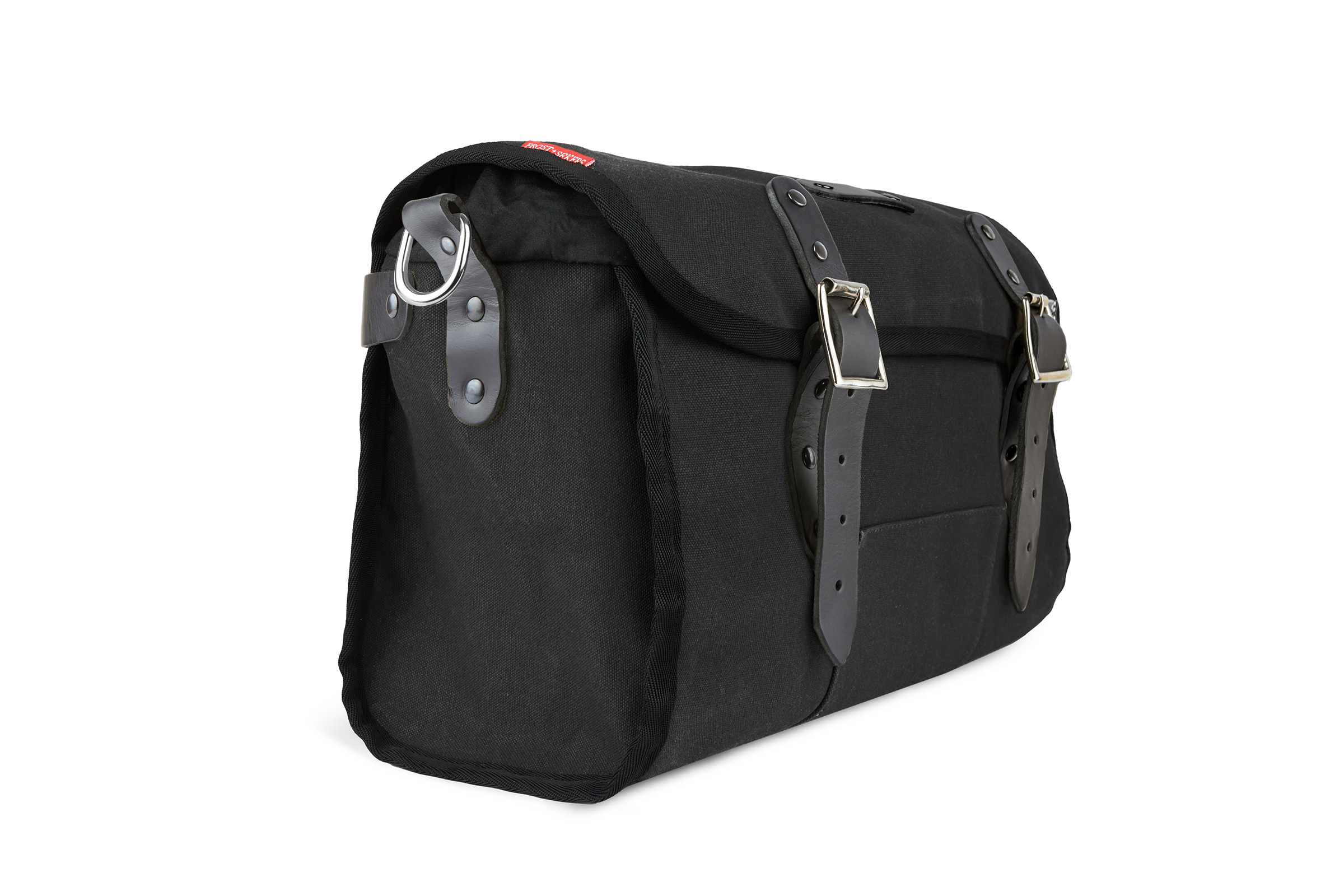 The Otis, 16L, Saddle Bag - Black Canvas, Black Leather