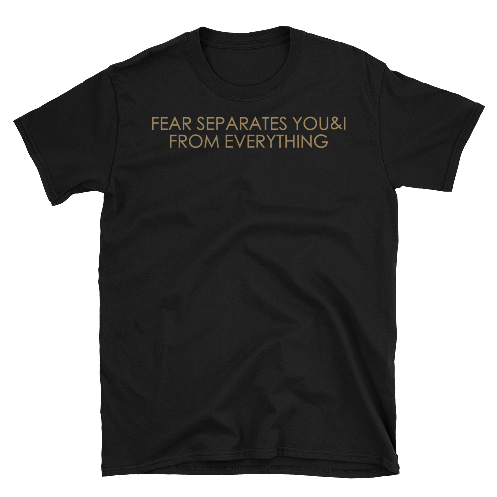 """FEAR SEPARATES YOU & I FROM EVERYTHING"""