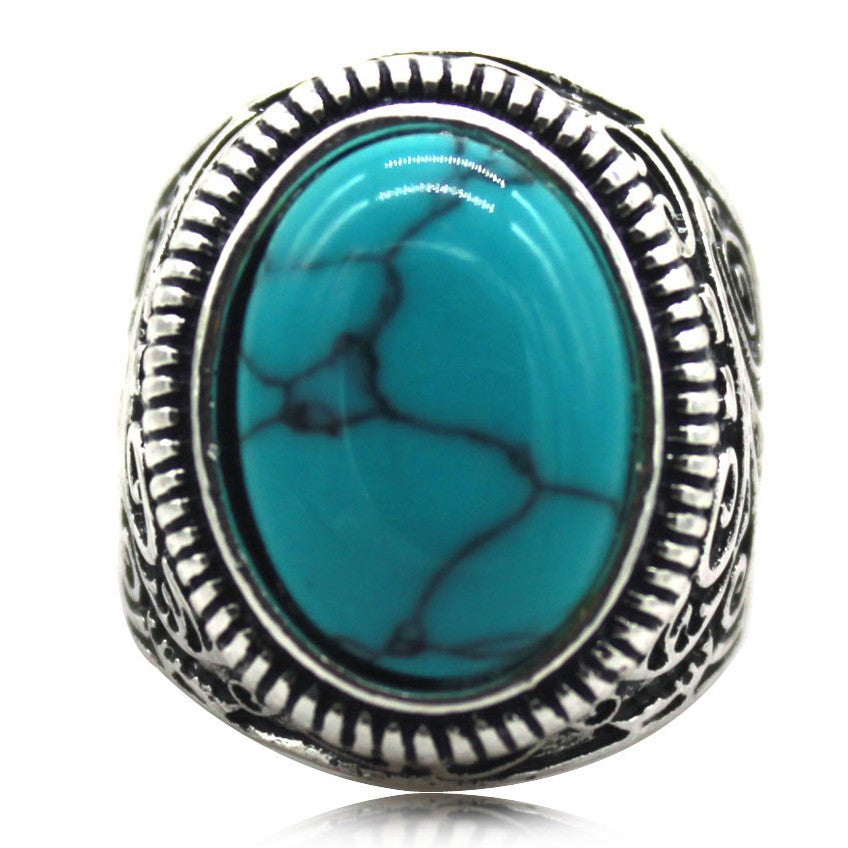 Vintage Blue stone Ring - The Amazing Bikers