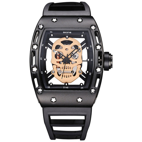 steel with nemesis handmade leather rock wide s bikers ac watches punk amazon collection dp watch black band com men biker stainless