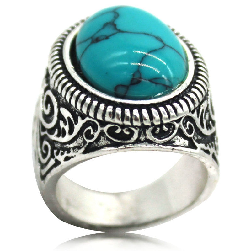 can big silver color price simple ring fashion rose rings mix factory amethyst new oval women for plated gold product stone unique turquoise