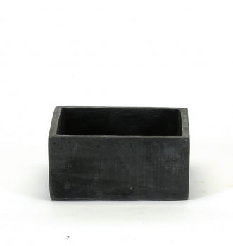 Pot rectangulaire en ciment noir