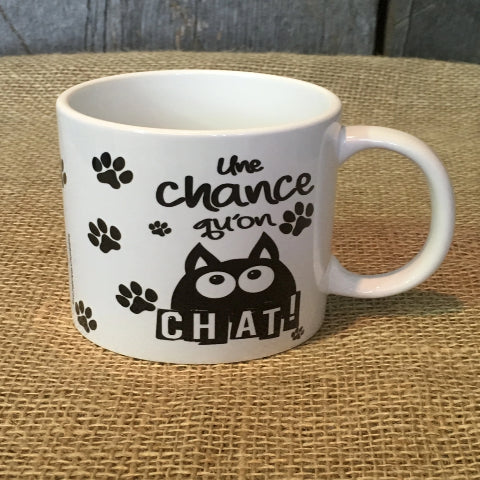 Tasse UNE CHANCE QU'ON CHAT