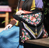 Superbe Sac Brodé Vintage Indian - Lookamor
