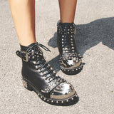 Black Death Bottines en Cuir - Lookamor