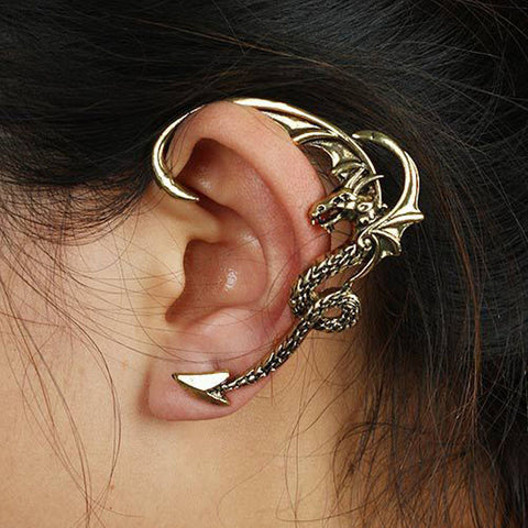 Boucle d'oreille soloform dragon - Lookamor