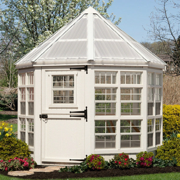 Little cottage company 8 x 8 ft octagon greenhouse 8x8 for Octagonal greenhouse plans
