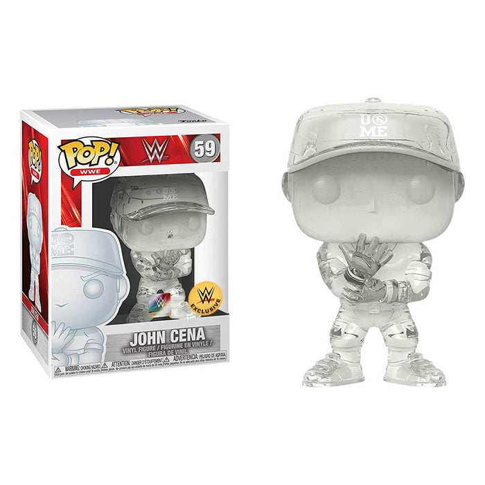 Funko POP! WWE - John Cena, You Can't See Me (Invisible) WWE Shop Exclusive Vinyl Figure - Characters Co