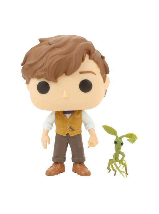 Funko Pop Fantastic Beasts: Newt Scamander and Pickett Collectible Figure, Multicolor - CharactersCo.com