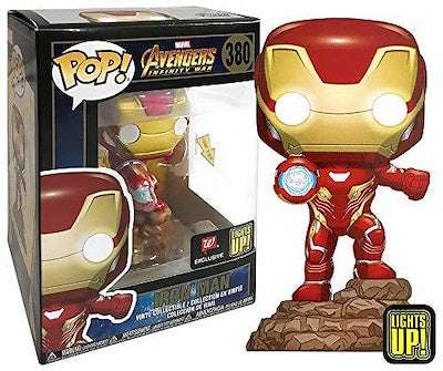 Funko Pop Marvel - Electronic Light Up Iron Man Walgreens Exclusive Vinyl Figure - CharactersCo.com