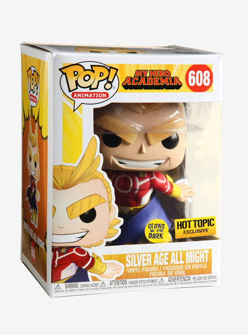 Funko Pop! Animation Tees - My Hero Academia All Might Glow in the Dark Exclusive w/T-Shirt Vinyl Figure Box Set - CharactersCo.com
