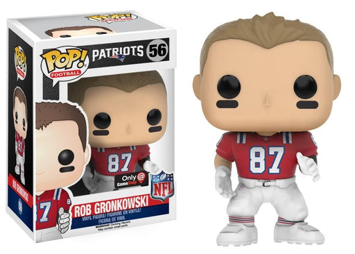Funko Pop! Football Rob Gronkowski Gamestop Exclusive #56 NFL Throwback Red Jersey - CharactersCo.com