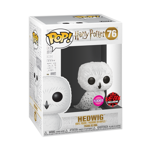 Funko Pop Movies: Harry Potter - Flocked Hedwig EB Games Exclusive Vinyl Figure - CharactersCo.com