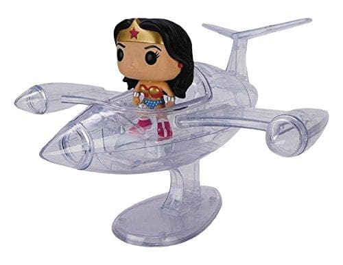 Funko Pop! Rides DC- Wonder Woman Invisible Jet Vinyl Figure - Characters Co