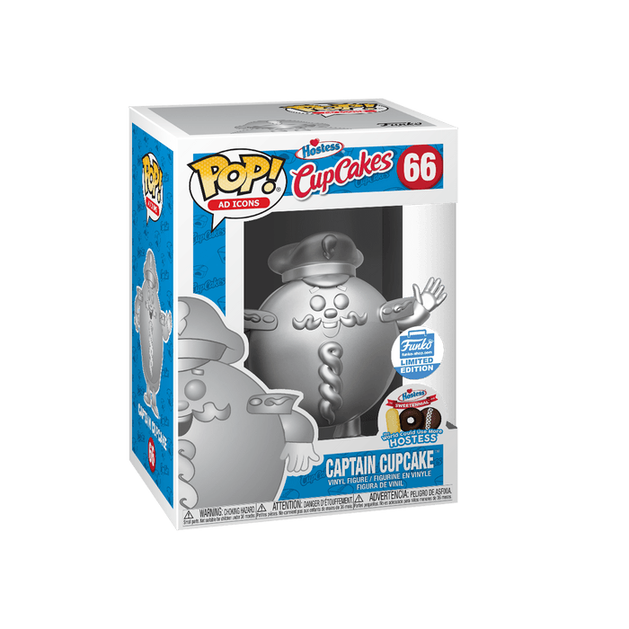 Funko Pop! AD Icons Hostess Captain Cupcake Platinum Exclusive Vinyl Figure - Characters Co