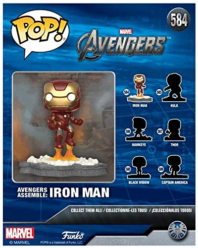 Funko Pop! Marvel - Deluxe Avengers Assemble Series - Iron Man Exclusive Vinyl Figure (Pre-Order) - Characters Co