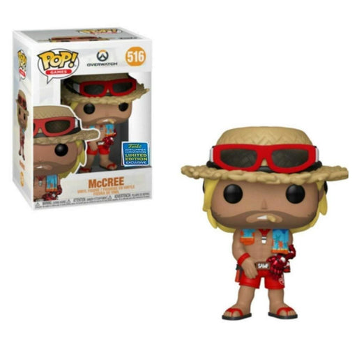 Funko Pop! Overwatch Lifeguard Beach McCree 2019 SDCC Exclusive Shared Vinyl Figure - CharactersCo.com