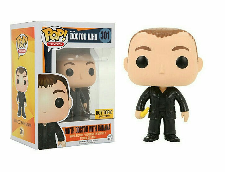 Funko Pop Doctor Who Television Ninth 9th Doctor with Banana Hot Topic Exclusive - Characters Co