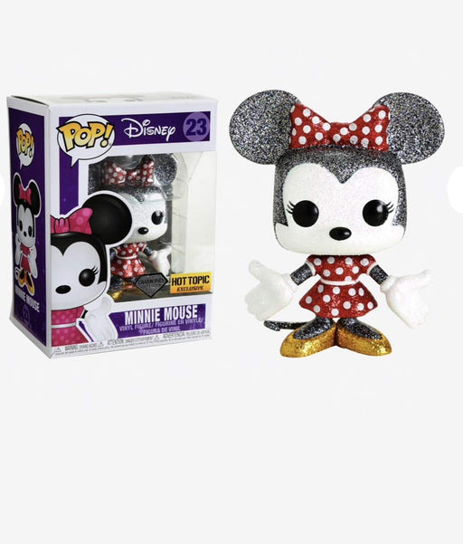 Funko Pop! Disney Minnie Mouse Diamond Collection Hot Topic Exclusive Vinyl Figure - Characters Co