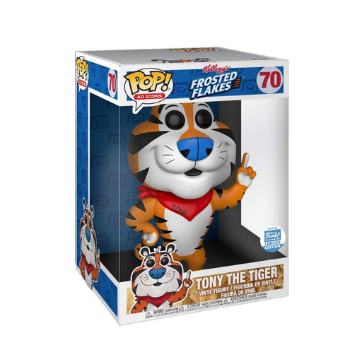 "10"" Tony The Tiger Funko Pop! Frosted Flakes AD Icons, Funko Shop Exclusive Vinyl Figure - Characters Co"