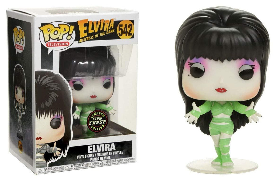 Funko Pop! Television Elvira Mummy Glow in the Dark Hot Topic Exclusive Chase Edition - Characters Co
