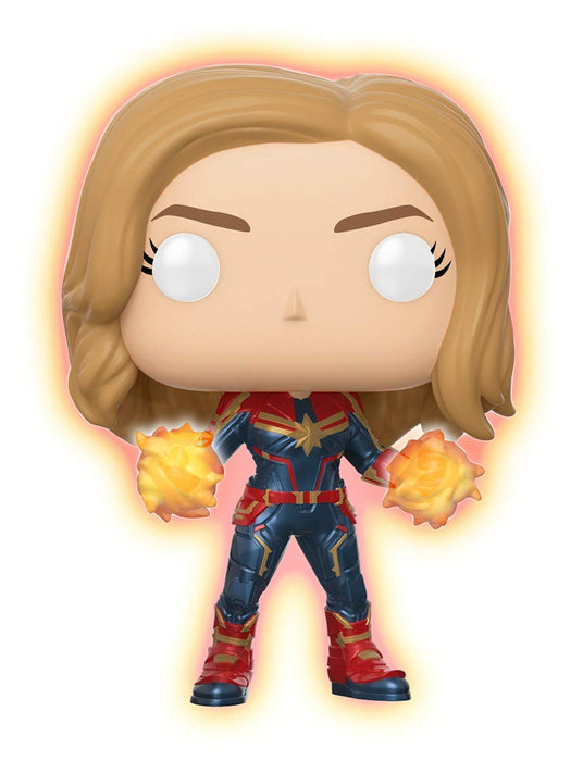 Funko Pop! Captain Marvel Glow In The Dark Walmart Exclusive Vinyl Figure - CharactersCo.com