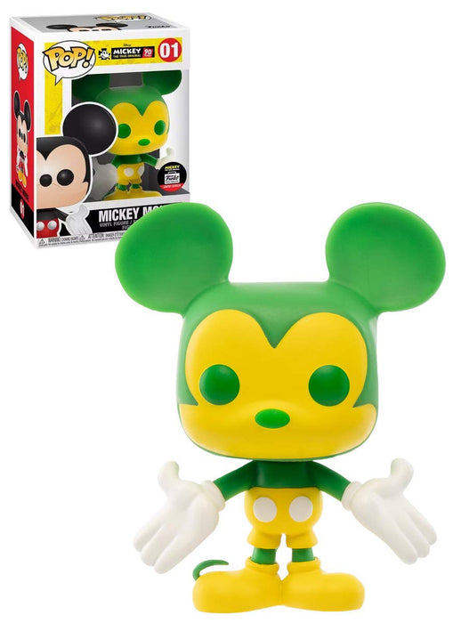 Funko Pop! Disney: Mickey Mouse Funko Shop Exclusive Green & Yellow Vinyl Figure - Characters Co