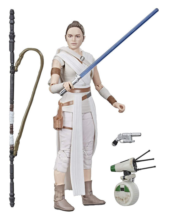 "Star Wars The Rise of Skywalker - Black Series First Edition Rey and D-O 6"" Action Figure - Characters Co"