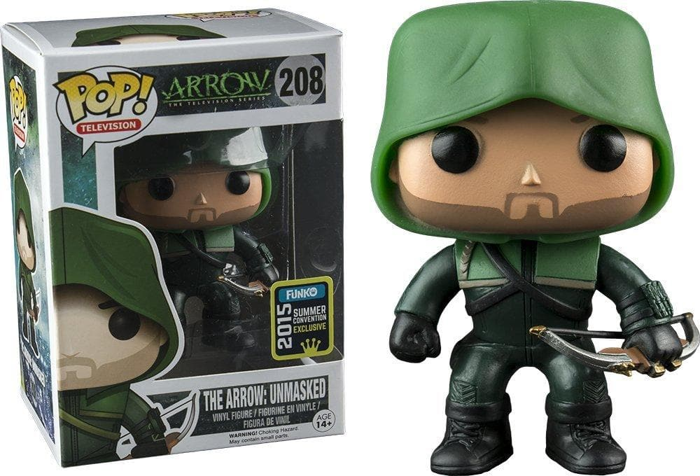 Funko Pop! Television - Arrow, The Arrow Unmasked 2015 SDCC Exclusive Shared Vinyl Figure - Characters Co