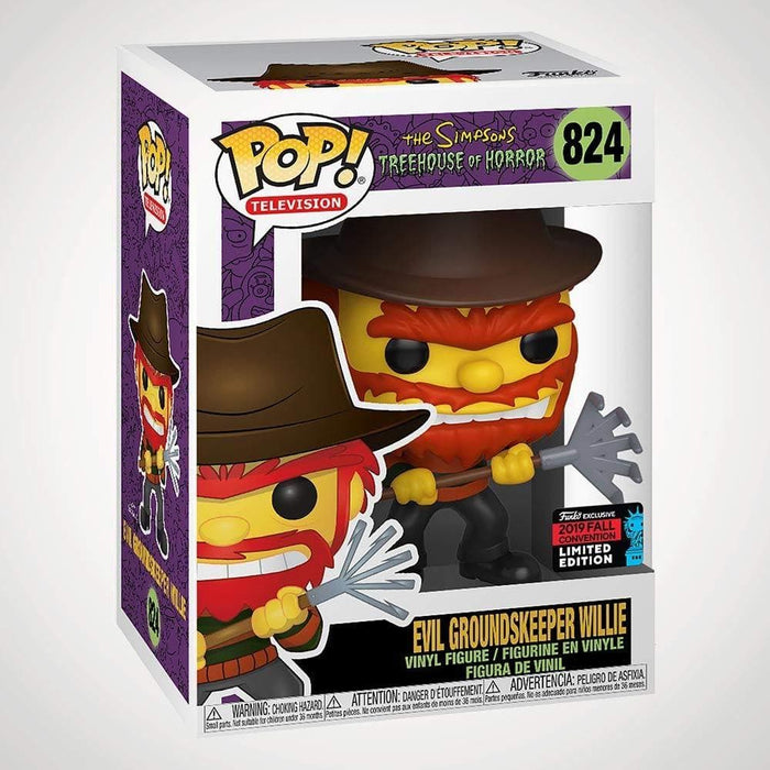 Funko Pop! Television -The Simpsons - Evil Groundskeeper Willie 2019 NYCC Exclusive Shared Figure - Characters Co