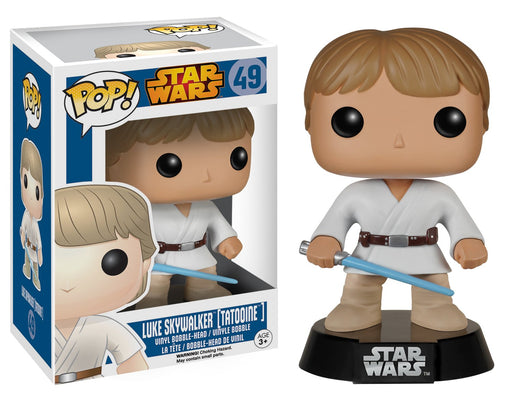 Funko Pop! Star Wars - Luke Skywalker (Tatooine) Vaulted Blue Box Vinyl Figure - Characters Co
