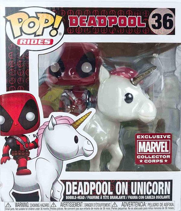 Deadpool on Unicorn Funko Pop! Marvel Collector Crops Exclusive - Pop! Rides Vinyl Figure - Characters Co