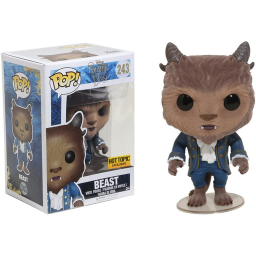 Funko Pop! Disney Beast [Flocked] Hot Topic Exclusive Vinyl Figure - Characters Co