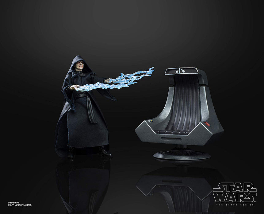 "Star Wars Return of the Jedi - Black Series Exclusive Emperor Palpatine with Throne 6"" Collectible Action Figure Set - Characters Co"