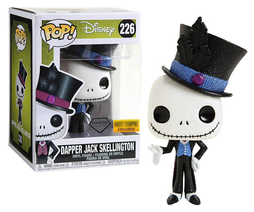 Funko Pop Disney: Nightmare Before Christmas - Diamond Collection Dapper Jack Skellington Hot Topic Exclusive Vinyl Figure - Characters Co