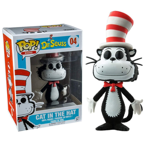 Funko Pop! Books: Dr. Seuss - Cat in the Hat (Flocked) Barnes & Noble Exclusive - Characters Co