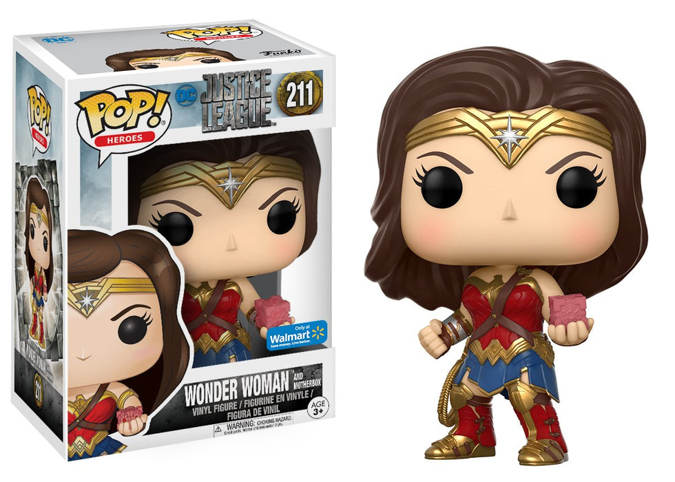 Funko Pop! DC Heroes Justice League Wonder Woman with Motherbox Walmart Exclusive Vinyl Figure - Characters Co