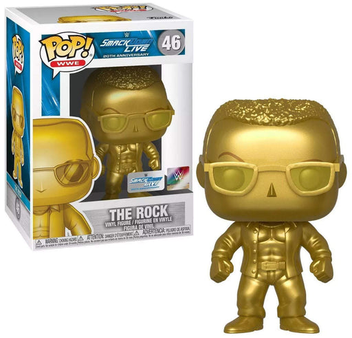 Funko Pop! WWE - The Rock - Smackdown 20th Anniversary Gold Target Exclusive - CharactersCo.com