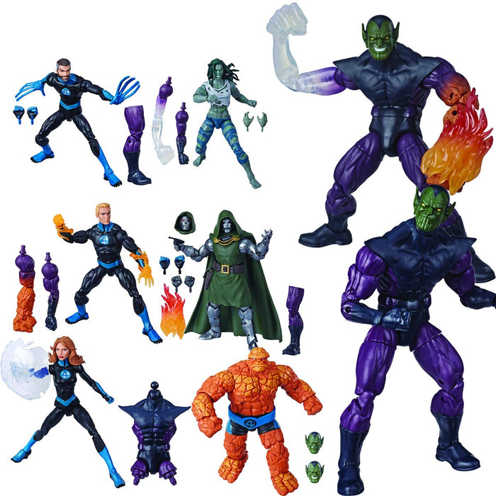 Fantastic Four Marvel Legends Super Skrull Series Set of 6 Action Figures - Characters Co