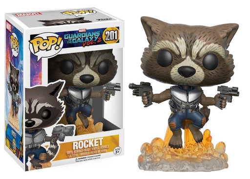 Funko Pop! Marvel: Guardians of The Galaxy Vol. 2 - Flying Rocket Raccoon Vinyl Figure - Characters Co