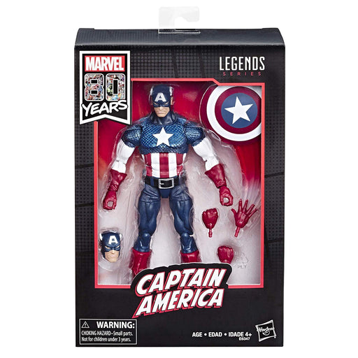 "Marvel Legends 80th Anniversary Exclusive Captain America 6"" Scale Collectible Action Figure - Characters Co"