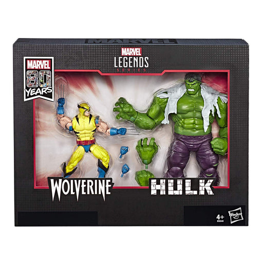 "Marvel Legends 80th Anniversary - Wolverine and Hulk 2-Pack 6"" Scale Collectible Action Figure Box Set - Characters Co"