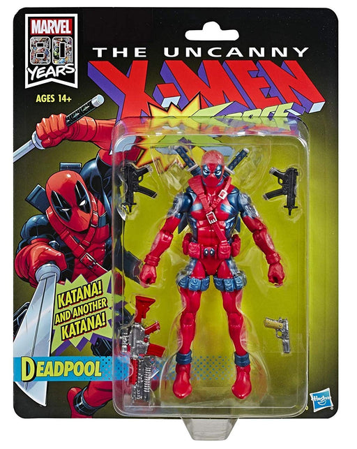 Marvel Legends 80th Anniversary Retro Deadpool X-Men X-Force 6-Inch Deadpool Action Figure - Characters Co