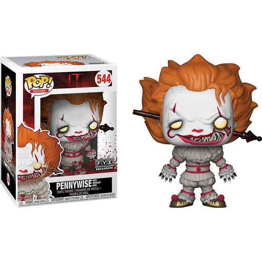 Funko Pop! Movies Pennywise w/ Wrought Iron FYE Exclusive Vinyl Figure - CharactersCo.com