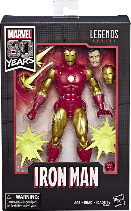 "Marvel Legends 80th Anniversary Vintage Comic-Inspired Iron Man 6"" Collectible Action Figure - Characters Co"