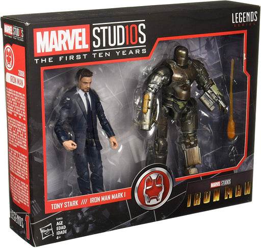 Marvel Studios Legends The First Ten Years: Tony Stark & Iron Man Mark 1 Avengers 6 Inch Scale Collectible Action Figure Box Set - Characters Co